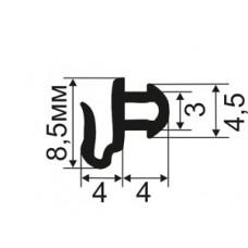 АЛ-01-227 Уплотнитель притвора для пластиковых и алюминиевых окон с пазом 3мм (TPE SEBS)