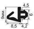 АЛ-03-08 Уплотнитель для алюминиевых профилей в паз 5мм (TPE SEBS)