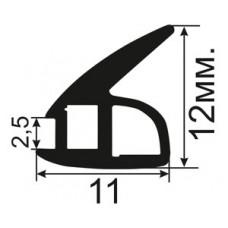 АЛ-07-12 Пазовый уплотнитель для алюминиевых систем