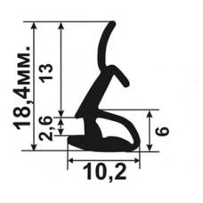 АЛ-07-19 Уплотнитель алюминиевых окон в паз 7-8мм