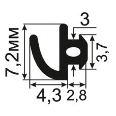 АЛ-11-06 Уплотнитель алюминиевых конструкций с пазом шириной 3 мм.