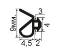 АЛ-64-003 Уплотнитель для алюминиевых конструкций с пазом 3мм (TPE SEBS)