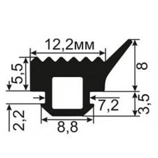 АЛ-ТПУ-007 Увеличенный уплотнитель для алюминиевых окон ТАТПРОФ аналог ТПУ-007