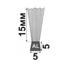 H-15x5x5 Щеточный уплотнитель для входных и межкомнатных дверей