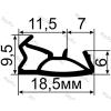 ОД-03-10D Контурный уплотнитель для деревянных окон и дверей с пазом 4 мм. (TPE)