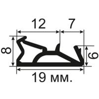 ОД-03-10D Пазовый (TPE) уплотнитель для деревянных евроокон с пазом 4мм