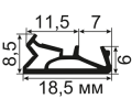 ОД-03-10 Пазовый (TPE) уплотнитель для деревянных евроокон с пазом 4мм