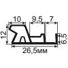 ОД-10-25 Универсальный пазовый уплотнитель для деревянных дверей с увеличенным притвором