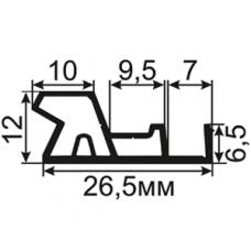 ОД-10-25 Универсальный пазовый уплотнитель для деревянных дверей с широким притвором.