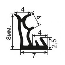 ОД-19-08 Пазовый уплотнитель с увеличенной рабочей частью для притвора деревянных евроокoн (аналог s6645)