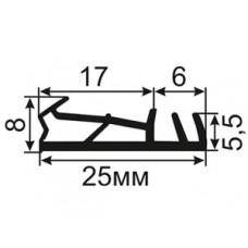ОД-21-17 Пазовый уплотнитель для деревянных дверей с широким притвором