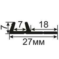 ОД-22-18 Пазовый уплотнитель для двухстворчатых оконных блоков