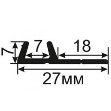 ОД-22-18 Уплотнитель из резины для двустворчатых оконных блоков без межстворчатой перегородки