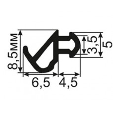 ОП-06-228-Л Уплотнитель пластиковых окон аналогичный профилю KBE-228 для окон с небольшими зазорами (TPE SEBS)