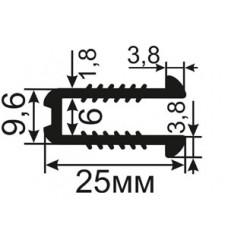 УС-03-06 П-образный Рифленый уплотнитель из резины для стекла толщиной 5-6мм