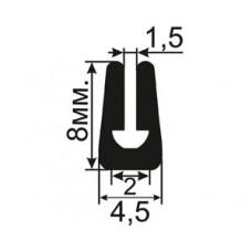 УС-08-01 П-образный Резиновый уплотнитель для алюминиевых систем