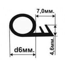 ОД-01-06 Универсальный резиновый (TPE) уплотнитель для деревянных окон и дверей в паз