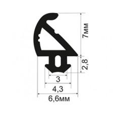 Уплотнитель пластиковых окон АЛ-05-07 для ПВХ профилей с пазом крепления шириной 3мм.