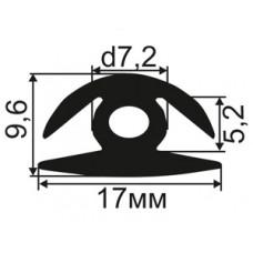 H-02-05 H-образный резиновый уплотнитель для стекла толщиной 4-5мм