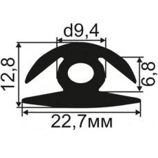 H-02-06 H-образный резиновый уплотнитель для стекла толщиной 6-7мм
