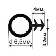 ОД-04-06 Резиновый (TPE) уплотнитель для деревянных окон с пазом под 45 градусов