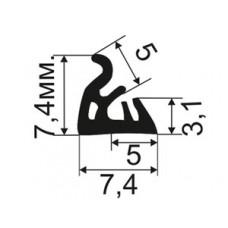 ОД-06-07 Резиновый (TPE) уплотнитель для притвора деревянных окoн из европрофиля