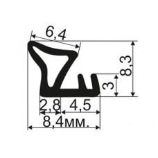 ОД-07-07 Уплотнитель резиновый (TPE) для притвора деревянных окoн из европрофиля аналог Deventer SV 33