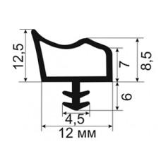 ОД-09-12 увеличенный Пазовый уплотнитель деревянных дверей