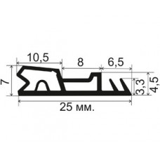 ОД-10-20 Пазовый уплотнитель для деревянных дверей с широким притвором