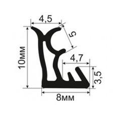 ОД-19-10 Пазовый уплотнитель с увеличенной рабочей частью для притвора деревянных евроокoн (аналог s6645)