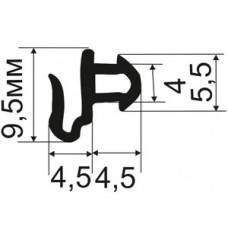ОП-01-227 Уплотнитель притворов для пластиковых окон (внутренний) аналог KBE-227