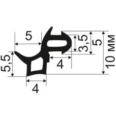 ОП-02-255 Уплотнитель притворов для пластиковых окон (наружний) аналог KBE-255, TPE SEBS