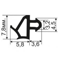 ОП-05-05 Уплотнитель для пластиковых окон аналог LG с пазом для крепления 3мм, TPE SEBS