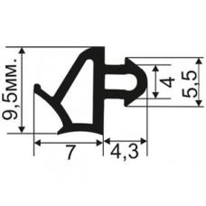 ОП-05-07 Универсальный уплотнитель повышенной эффективности (увеличен размера +0,5мм) для пластиковых окон аналог Veka и Rehau