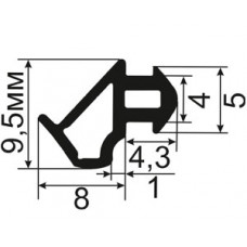 ОП-06-228 Уплотнитель резиновый для пластиковых окон аналог профиля KBE-228
