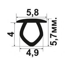 ОП-07-D4 Декоративная заглушка в технологический паз пластиковых окон стандартной ширины 4мм