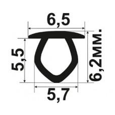 ОП-07-D5 Декоративная заглушка в технологический паз пластиковых окон Veka и их аналогов шириной 5мм