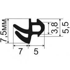 ОП-Secil-RH02 Уплотнитель для пластиковых окон Rehau (EPDM Турция)