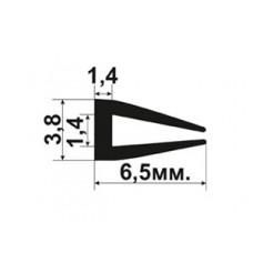 П образный уплотнитель для стьекла толщиной 1-1,5мм