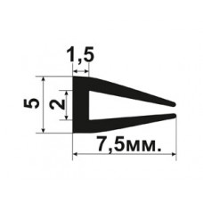 УС-01-02 П-образный Резиновый (TPE) уплотнитель для стекла толщиной 2-3мм