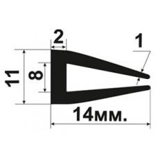 УС-01-08 П-образный Резиновый (TPE) уплотнитель для стекла толщиной 8-9мм