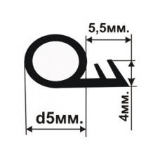 ОД-01-05 Резиновый (TPE) уплотнитель для деревянных дверей и окон с пазом под 90 градусов