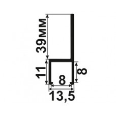 Профиль крепежный для щеточных уплотнителей 180 град. (8x8)