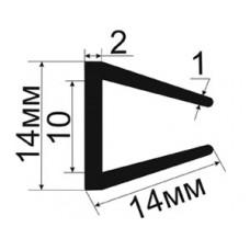 УС-01-10 П образный уплотнитель для стекла толщиной 10-11мм