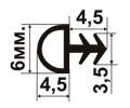 ОД-02-06 Пазовый резиновый(TPE) уплотнитель для межкомнатных дверей и оконных коробок с пазом пропиленным под 90