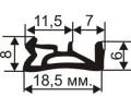 ОД-03-10 Пазовый (TPE) уплотнитель для деревянных евроокон с пазом 4мм аналог Deventer SV12
