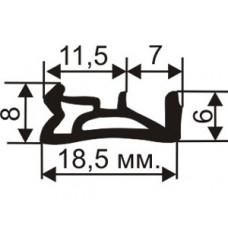 ОД-03-10 Пазовый TPE уплотнитель для деревянных еврококон с пазом 4мм