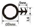 ОД-04-08 Резиновый (TPE) уплотнитель для деревянных окон с пазом под 45 градусов