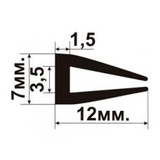 УС-01-03 П-образный Резиновый (TPE) уплотнитель для стекла толщиной 3-4мм