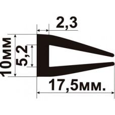 УС-01-05  П-образный Резиновый (TPE) уплотнитель для стекла толщиной 5-6мм